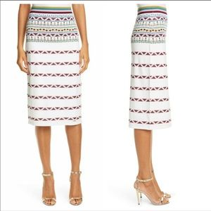 Ted Baker knit skirt with geometric pattern pencil skirt style